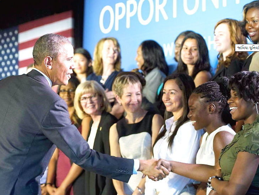 if women run countries there would be improvement in living standards and outcomes barack obama